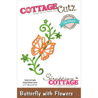 Cottage Cutz stanssi butterfly with flowers