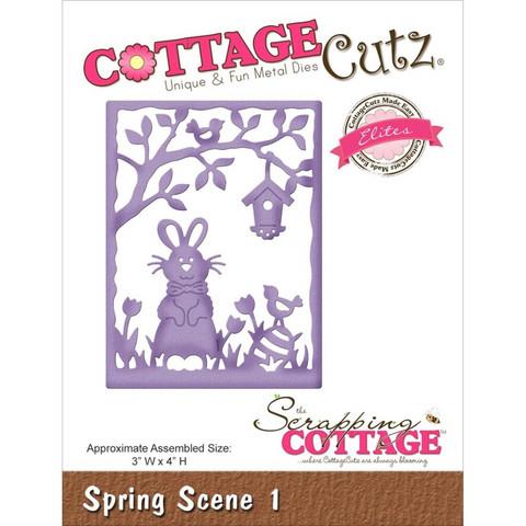 Cottage Cutz stanssi Spring scene 1 pupu