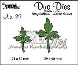 Crealies stanssisetti lehdet 2kpl no39