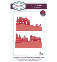 Creative Expressions stanssit Christmas cottage scene