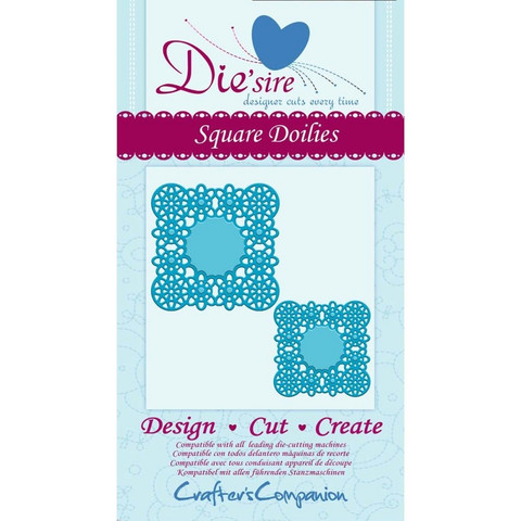 Die´sire stanssit Square Doilies
