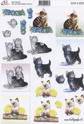 3D-kuva Cm kissat ja tiput