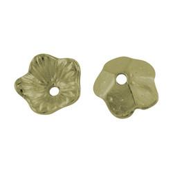 Helmihattu alloy kukka antiikkipronssi 4,5x9mm/10kpl