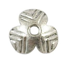 Helmihattu kukka antiikkihopea 10mm/20kpl