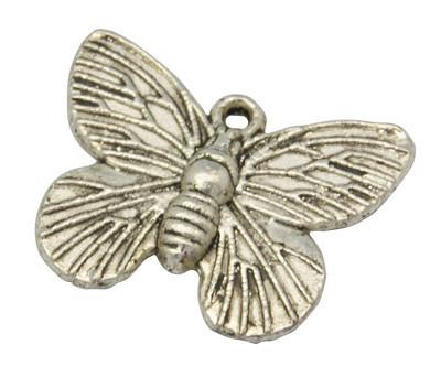 Perhosriipus antiikkihopea15mm x 18mm 10kpl