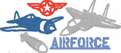 Cheery Lynn Designs stanssi Air Force