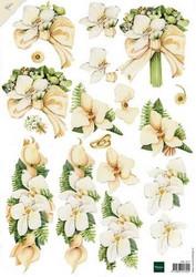 3d-kuva häät vaaleat kukat