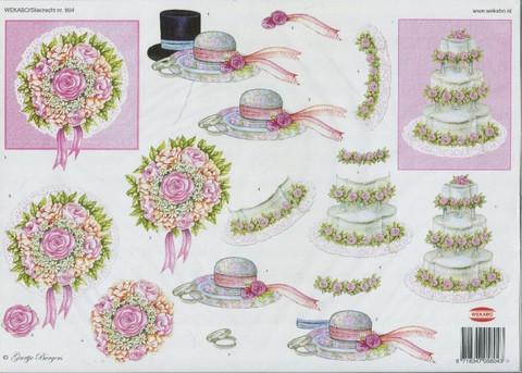 3d-kuva Wekabo häät hatut ja kakku