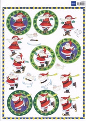 3d-kuva luisteleva joulupukki