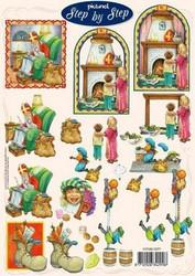 3d-kuva Joulupukki ja lapset