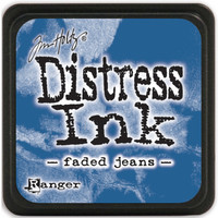 Distress ink leimamuste Faded Jeans