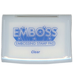 Embossing stamp pad mustetyyny