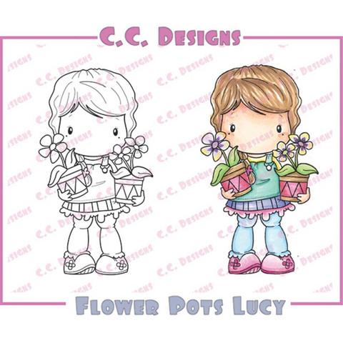 C.C Designs leimasin Flower pots Lucy