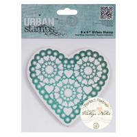 Papermania leimasin Vintage Notes (Heart)