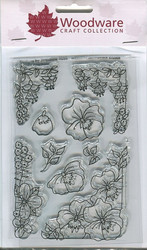 Woodware leimasinsetti Floral corners & borders