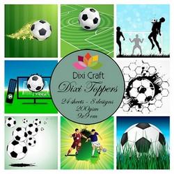 Dixi Craft korttikuvat jalkapallo värillinen