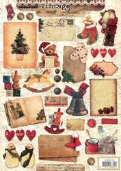 Korttikuvat Vintage line Christmas