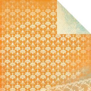 KaiserCraft skräppipaperi Devonshire Victorian Rose 12x12