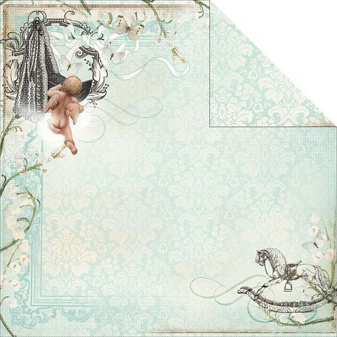 KaiserCraft skräppipaperi Bundle of Joy Stork 12x12