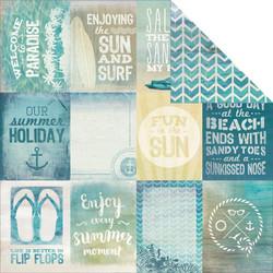 KaiserCraft skräppipaperi Sandy Toes Beach Bum 12x12