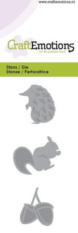 CraftEmotions stanssit siili, orava ja terho