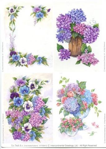 Le Suh korttikuvat lilat kukat