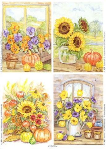 Le Suh korttikuvat kurpitsat ja kukat