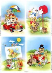 Le Suh korttikuvat lapsille eläimet ja kesä