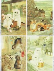 Le Suh korttikuvat kissat