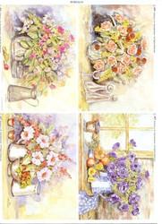Le Suh korttikuvat kukat
