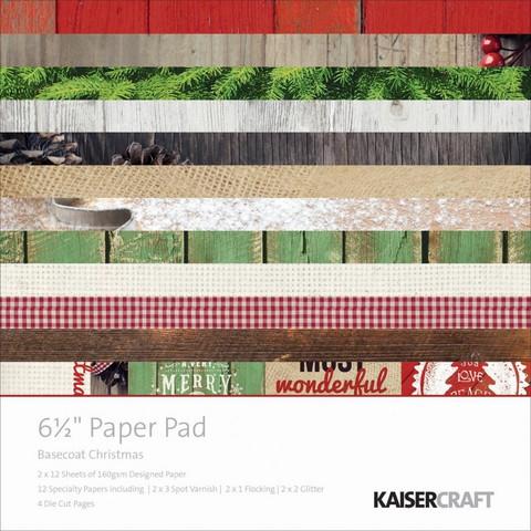 KaiserCraft paperilehtiö Basecoat Christmas joulu 6,5