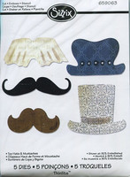 Sizzix Thinlits stanssit Top Hats & Mustaches