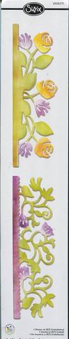 Sizzix sizzlits stanssi Crad edges, botanical & rose garden