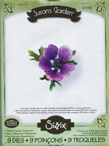 Sizzix thinlits stanssisetti Flower, Hardy Geranium