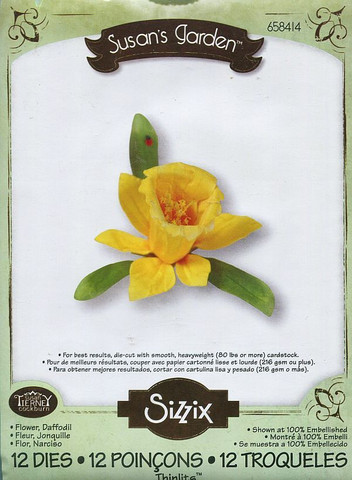 Sizzix thinlits stanssisetti Flower, Daffodil