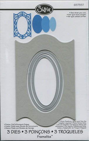 Sizzix Framelits stanssit Frame, Oval w/Ironwork Edges