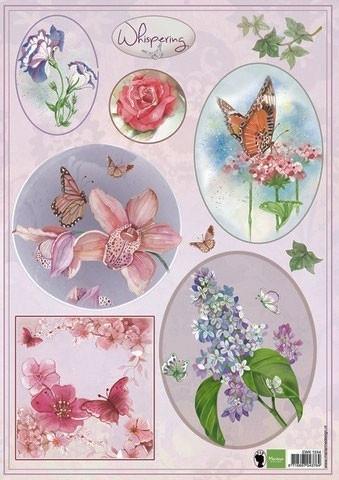 MD korttikuvat kukat ja perhoset