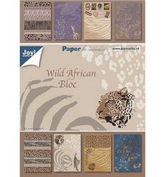 Joy Craft paperilehtiö Wild African a5