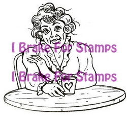 I Brake for stamps leimasin Coffee Klatch Kay