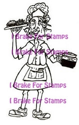 I Brake for stamps leimasin Flo the waitress