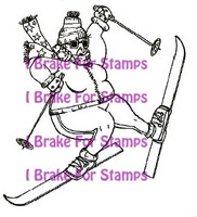 I Brake for stamps leimasin Skiing Marge