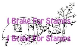 I Brake for stamps leimasin Trailer