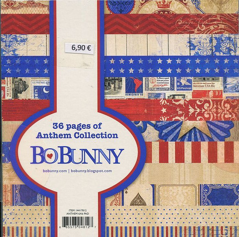 Bo Bunny paperilehtiö Anthem 6x6