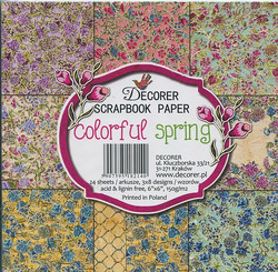 Decorer paperikko colourful spring 6x6