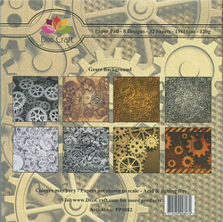 Dixi Craft paperikko Gears backround  6x6