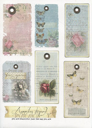 Reprint korttikuvat Summer wings tags a4