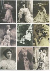 Reprint korttikuvat Vintage Women2 a4