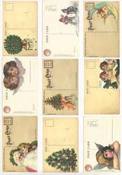 Reprint korttikuvat Christmas Postcard a4