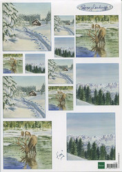 MD korttikuvat Snow Landscape it587