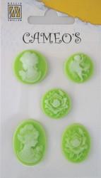 Cameot tarralla vaaleanvihreä